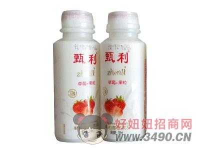 甄利草莓果粒酸奶饮品310ml
