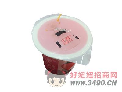 三辉炒酸奶味可吸果冻草莓味杯装