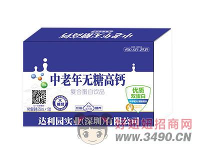 达利园实业中老年无糖高钙复合蛋白饮品250mlx12