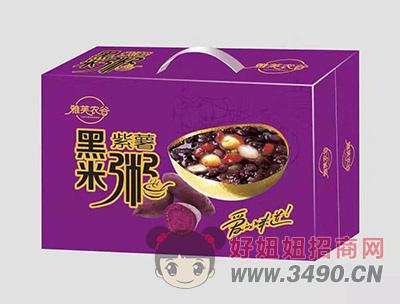 雅芙农谷黑米紫薯粥