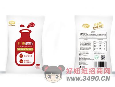 乳泰红枣酸奶中国枣香味风味发酵乳150g