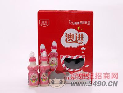 网盟彩票快三奶嘴款草莓味乳酸菌飲品200ml×16瓶
