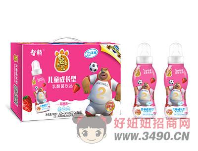 熊出没儿童奶嘴瓶乳酸菌饮品草莓味