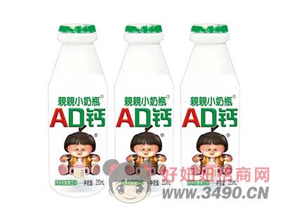 亲亲小奶瓶AD钙原味乳酸菌lehu国际app下载220ml