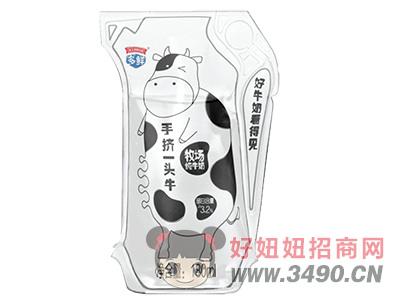 手挤一头牛牧场纯牛奶×180ml