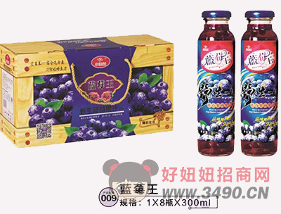 小白兰蓝莓王箱装蓝瓶