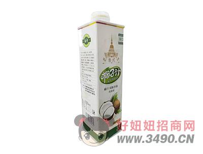 伯奇泰式生榨椰子汁风味饮料1L