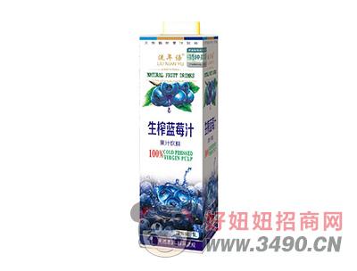 流年语特种兵生榨蓝莓汁饮料1L