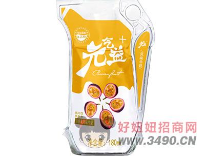 元气益+百香果风味牛奶×180ml