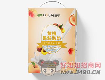 迈芙黄桃果粒酸奶300ml+10ml