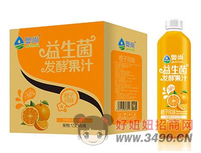 奥尚橙子风味益生菌发酵复合果汁饮料1.5L×6瓶