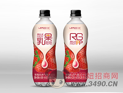 草莓乳味气泡水480ml