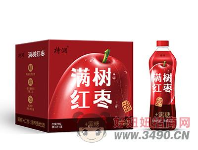 特润红枣果汁饮料箱装1.3Lx6瓶