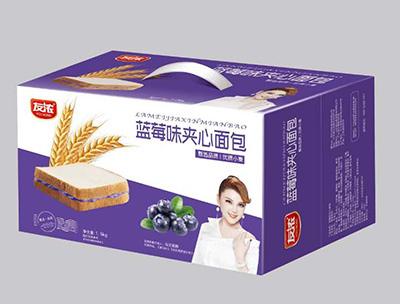 蓝莓味夹心面包