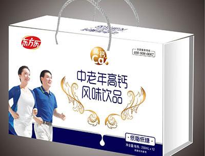 中老年�L味�品低脂低奶�Y盒�b