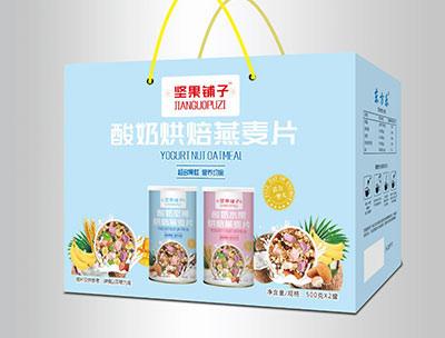 酸奶烘焙燕��片500克X2罐�Y盒�b