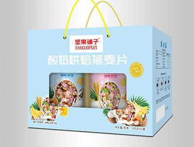 酸奶烘焙燕��片500克X2罐