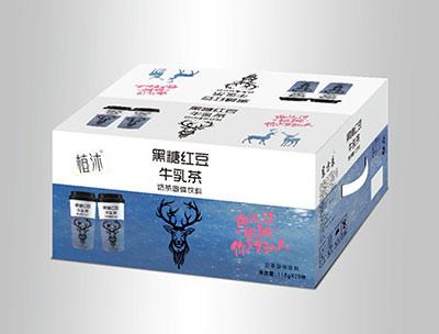 植沐黑糖�t豆牛乳茶箱�b