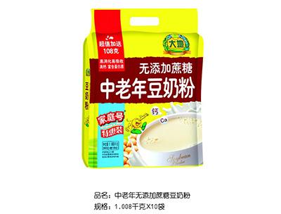 大地中老年�o添加蔗糖豆奶粉�_�{1.008kg×10