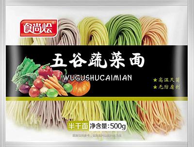 五谷蔬菜半干面300g