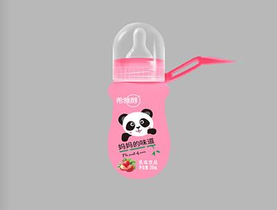 妈妈的味道草莓味乳饮品瓶装PVC