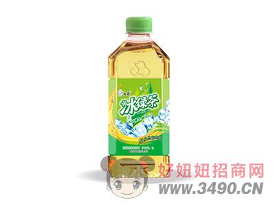 ��檬味�G茶�料瓶�b1L