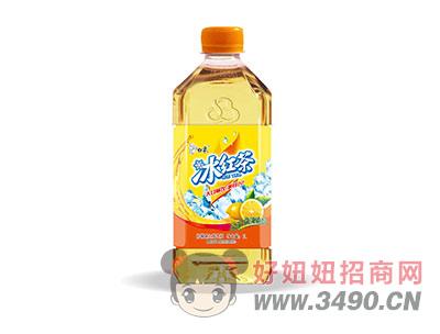 ��檬味�t茶�料瓶�b1L