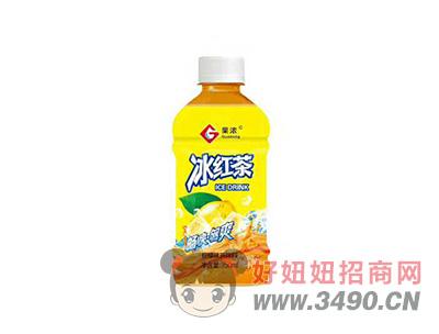 果浓冰红茶柠檬味茶饮料