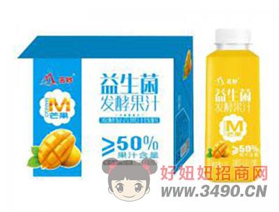 芒果味益生菌发酵果汁1.2Lx8瓶