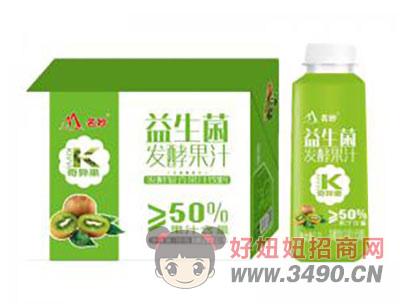 奇异果味益生菌发酵果汁1.2Lx8瓶