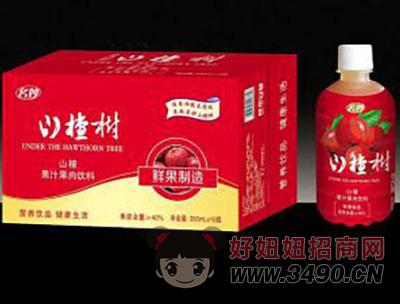 山楂果汁果肉饮料箱装350mlx15瓶