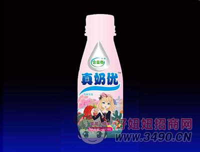 合益优真奶优风味饮品 草莓+椰果