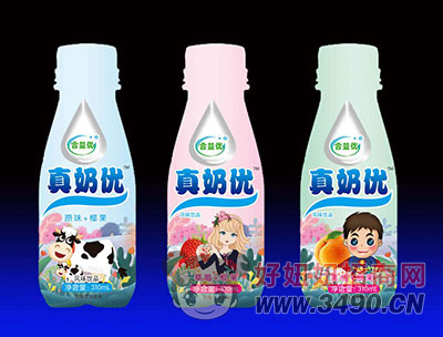 合益优真奶优风味饮品  三种不同口味