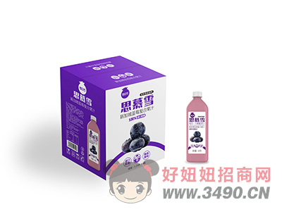 思慕雪蓝莓复合果汁箱装