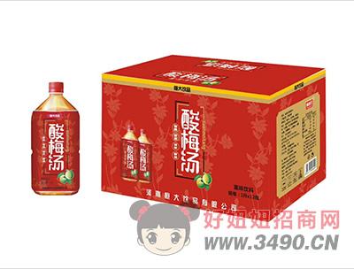 果味饮料酸梅汤1Lx12瓶