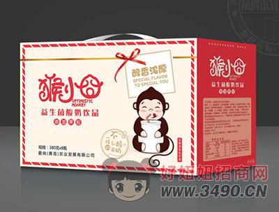 益可滋猴小�搴�果粒益生菌酸奶�品