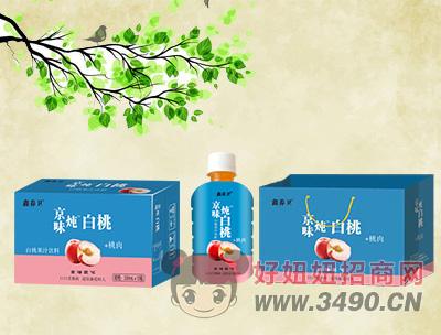 鑫养卫白桃果汁饮料350mlx15瓶