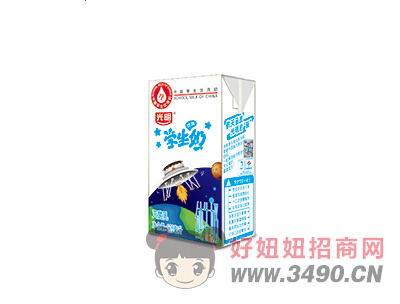 学生奶探月-125ml苗条装-纯牛奶