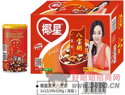 椰星红枣黑米八宝粥简箱320g