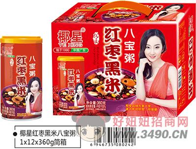 椰星红枣黑米八宝粥简箱360gx12罐