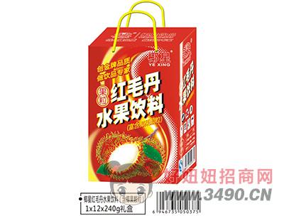 椰星红毛丹水果果粒饮料礼盒240g