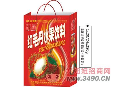 椰星红毛丹水果饮料手提袋250g