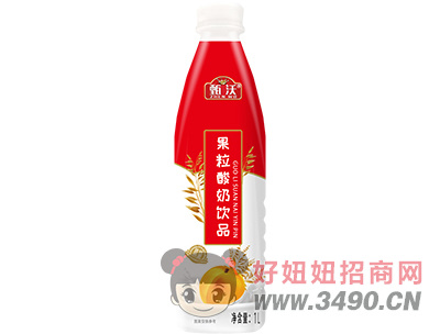 甄沃燕���S桃酸奶1L