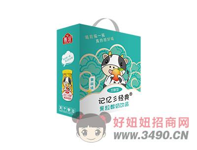 ����典�S桃果粒酸奶箱�b180ml
