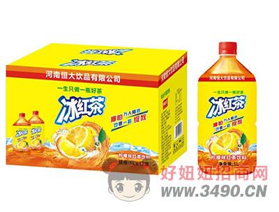 恒大�品冰�t茶1L