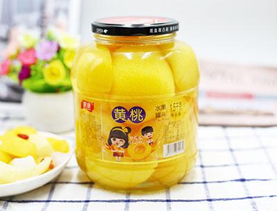 黄桃水果罐头