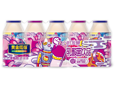 黄金搭档乳酸菌饮品(紫色5连瓶)