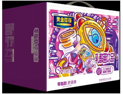 黄金搭档乳酸菌饮品(紫箱背)