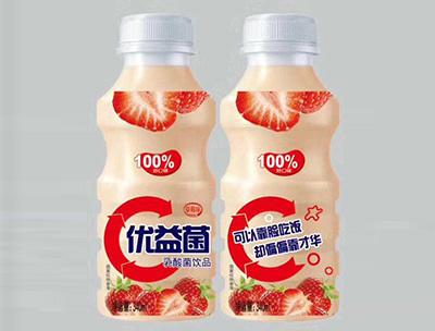 优益菌乳酸菌饮品340ml草莓味