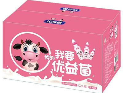我要我的优益菌乳酸菌饮品200mlX24瓶草莓味